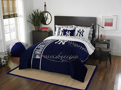 Comforters and Sets 45462: New York Yankees 7 Piece Full Soft And Cozy Applique Comforter Bedding Set -> BUY IT NOW ONLY: $119.95 on eBay!