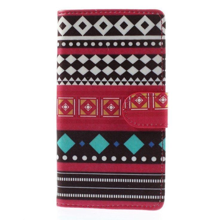 JUJEO Tribe Rhombuses Triangles Leather Wallet Case Sony Xperia Z3 D6653, D6603
