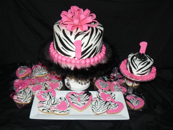 1st birthday cake pink and zebra - Google Search