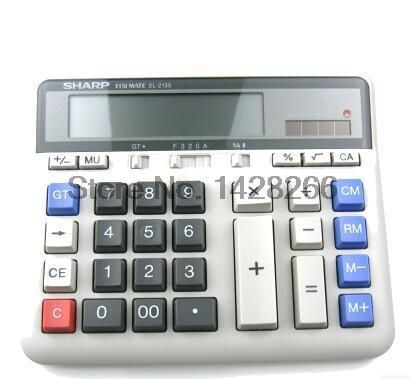 New Original SHARP EL-2135 multifunction calculator Computer Keys Bank Dedicated Calculadora Cientifica As Gift free shipping