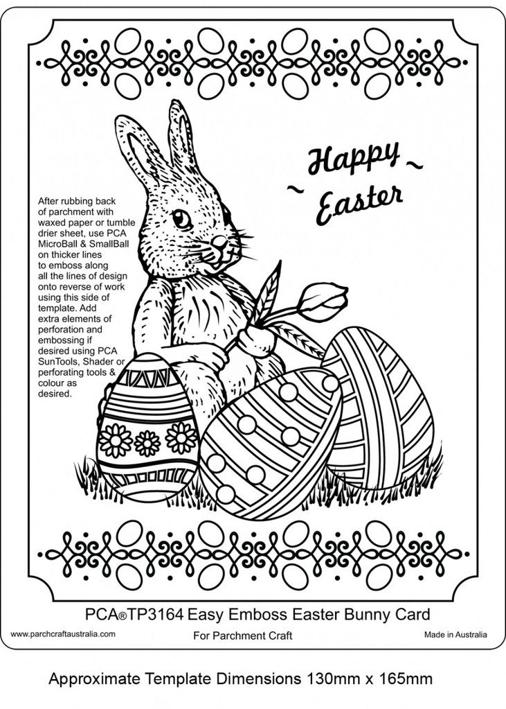 PCA EASY EMBOSS EASTER BUNNY CARD    This cute Easter Bunny template has all the hard work done for you in terms of design, ( shown in picture against a green cardstock backing) or you can most definitely add as many touches of your own as you like to this and truly make it your own.