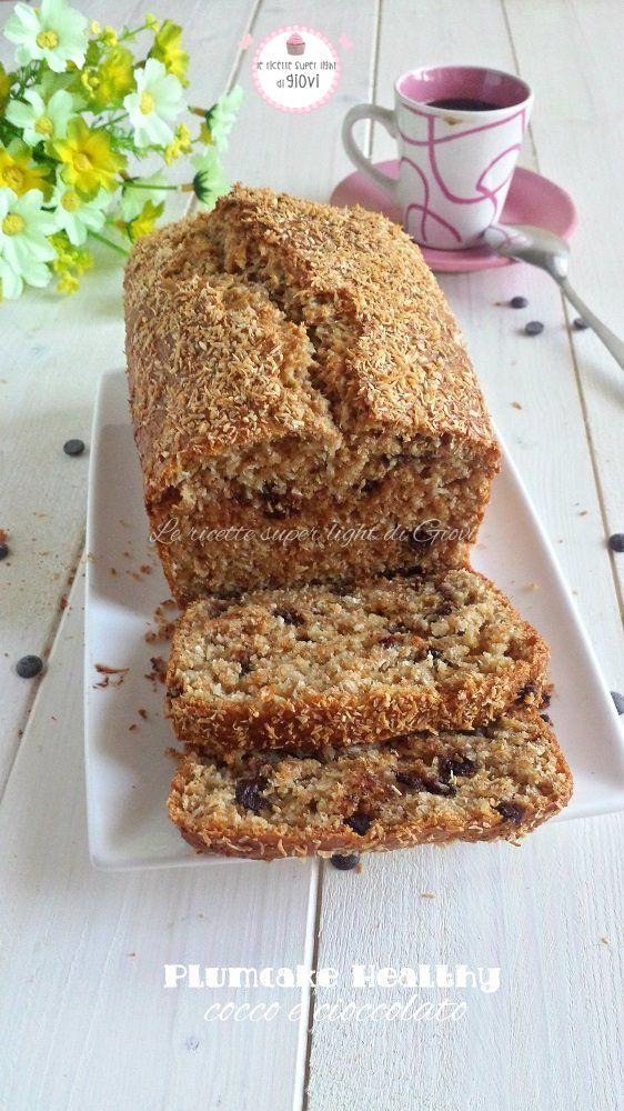 Plumcake Healthy cocco e cioccolato | Le ricette super light di Giovi