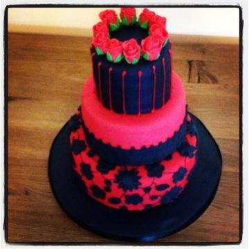 Gothic birthday cake.