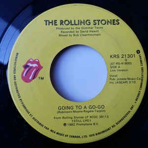 """The Rolling Stones - Going To A Go-Go (Live Version)/Beast of Burden 1982 (Vinyl) 45 RPM 7"""" at Discogs"""