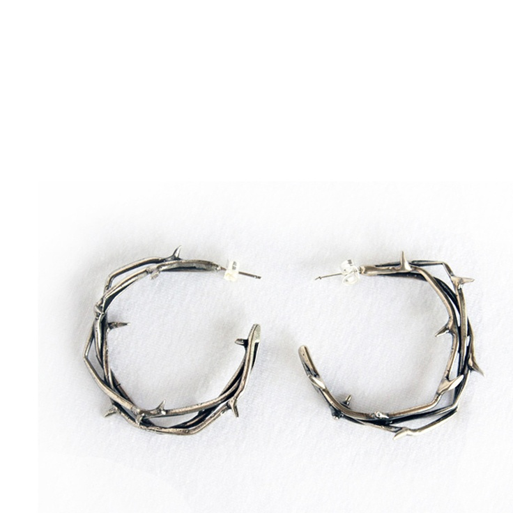 I own these, I love them. Crown of Thorn earrings by Bealine // Gather