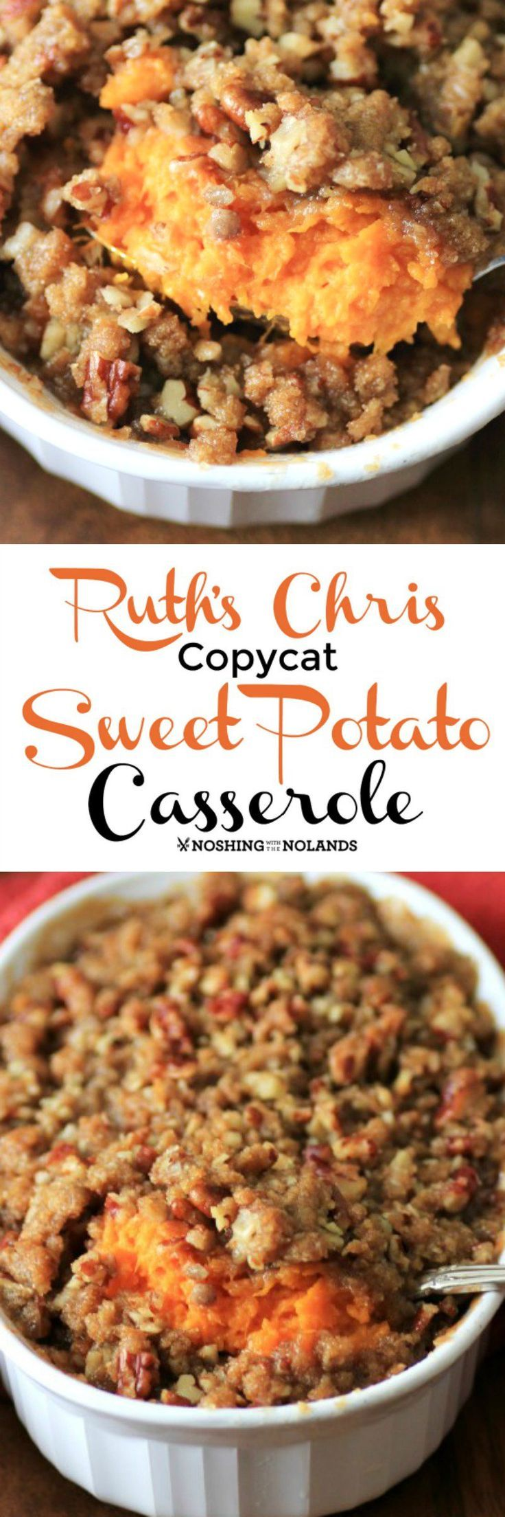 Ruth's Chris Copycat Sweet Potato Casserole is pure comfort food! So delicious you will want to serve it over the holidays and year round!