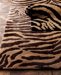 There is a variety of animal print rugs available and the different designs actually depict the different animals with messages across them which may be in text format or in print format...
