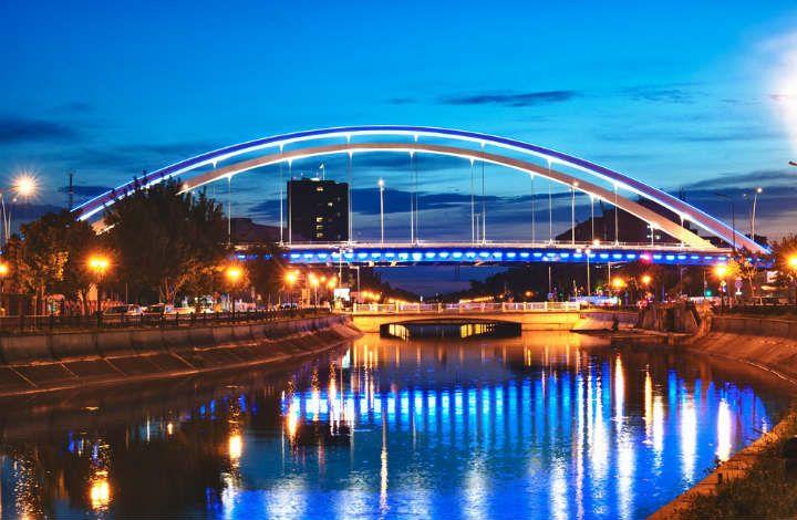 Basarab bridge night Bucharest #bucharest #casinotrip