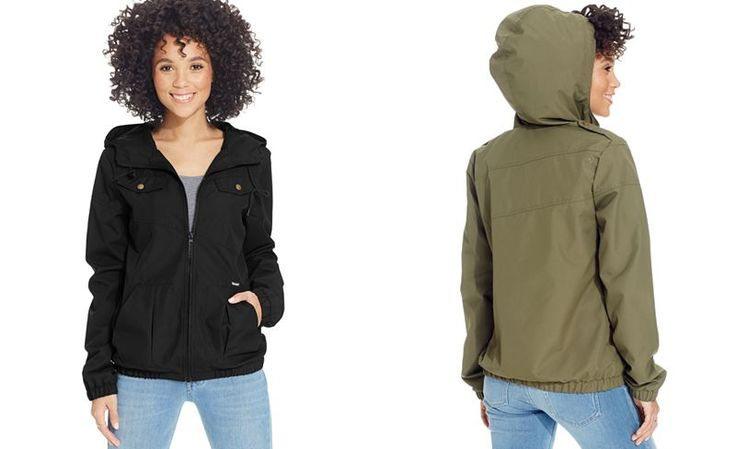 Volcom Juniors' Hooded Windbreaker - Juniors Jackets & Vests - Macy's