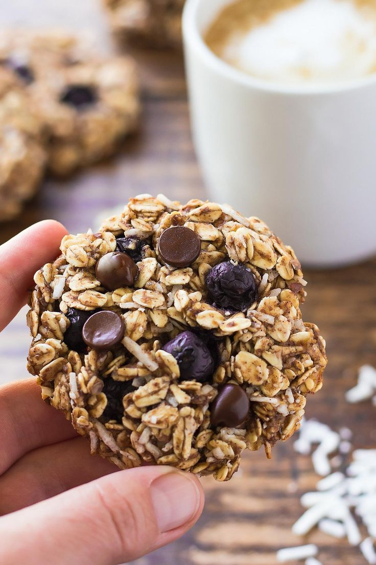 These Blueberry Breakfast Cookies are a perfect make-ahead breakfast treat. These vegan + oil-free healthy breakfast cookies can also be made gluten free.