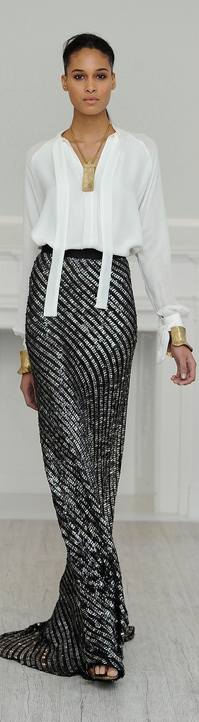 Juan Carlos Obando F/W 2013- 2014 - if only my legs looked like long slim champagne glass stems!