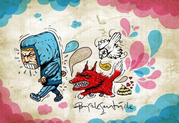My Blog Header   illustration by Burak Şentürk, via Behance