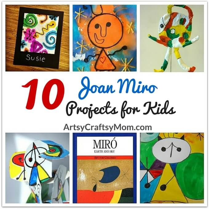 Joan Miro was an artist who didn't subscribe to any artistic label. Learn more about this incredibly talented artist with these Joan Miro Projects for Kids.