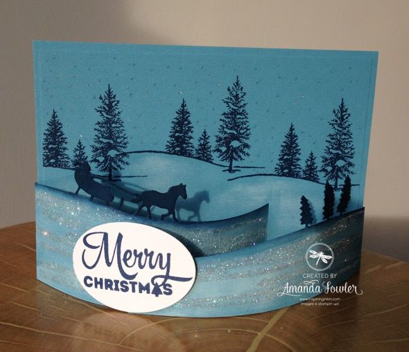 Speedy Bendy Christmas Card with Video :: Inspiring Inkin' - Order Stampin' Up! Online 24/7 from Top Independent Stampin' Up! UK Demonstrator Amanda Fowler