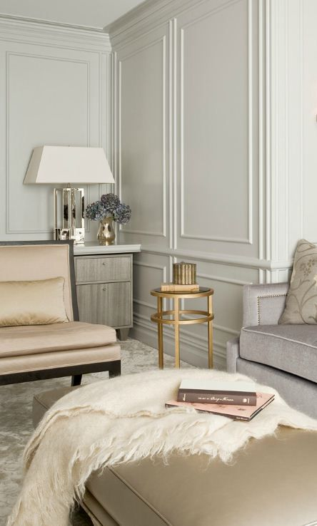 Designed by Darci Hether - Ingrid Table Lamp in Polished Nickel by Alexa Hampton: AH3044 // WALLS