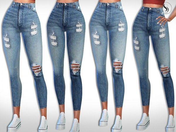 Die Sims Resource: Wrangler Super High Waist Jeans von Saliwa • Sims 4 Downloa…