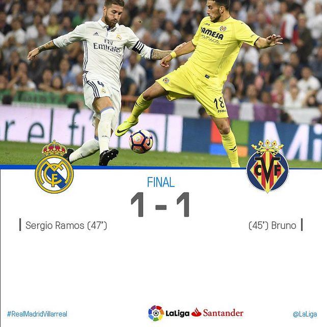 La Liga (Jornada 5): Real Madrid 1 - Villarreal 1