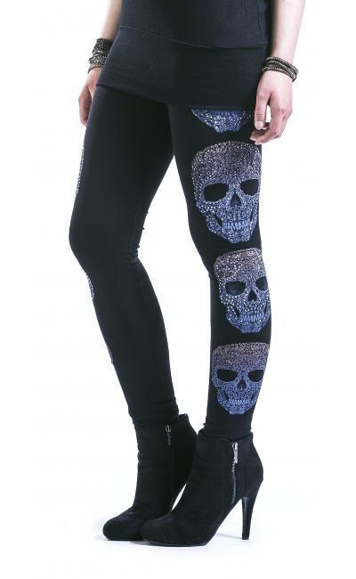 Vocal Skull Leggings ~ Emp · Gothic LeggingsSkull LeggingsTightsSkull  ClothesSkull ...