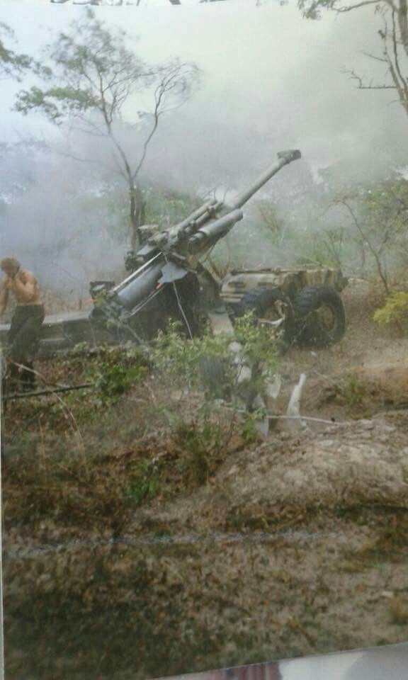 G5 Howitzer at full recoil