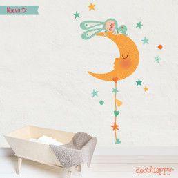 vinilos infantiles dormido en la luna