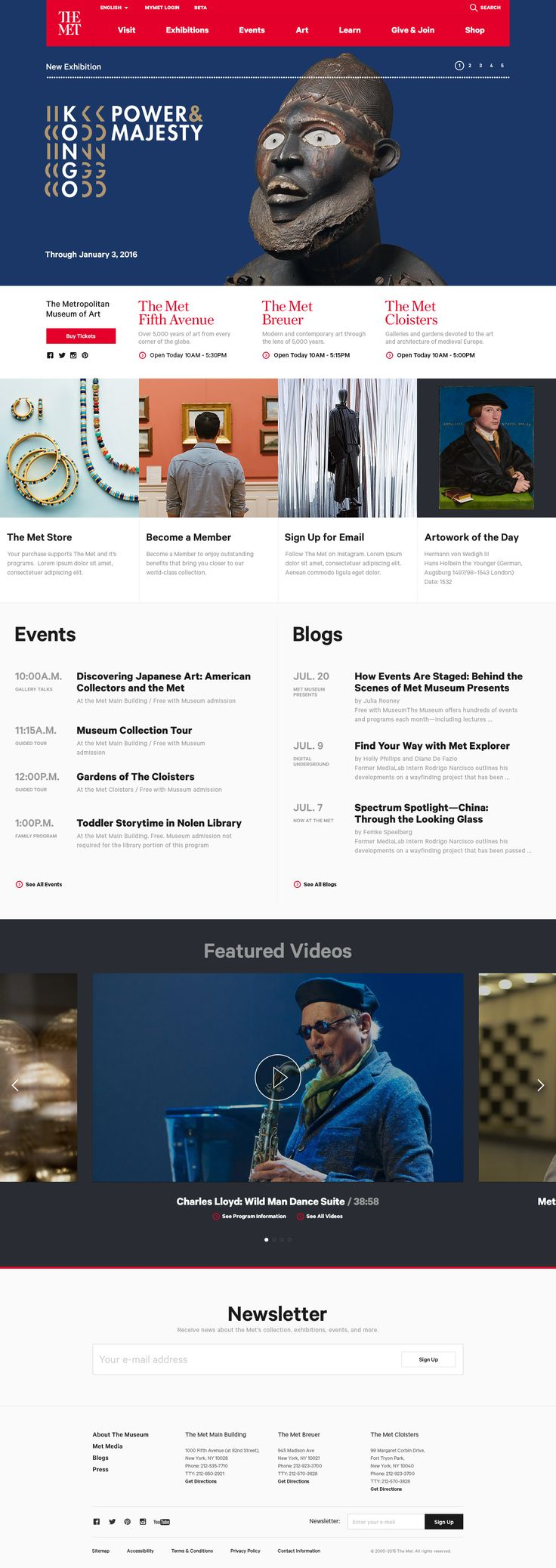 THE MET: Home Page / FΛNTΛSY. If you like UX, design, or design thinking, check out theuxblog.c