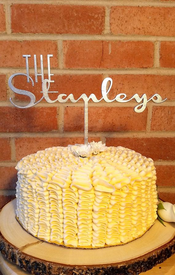 Wedding Cake Topper Bride and Groom Last Name by LetsTopThat