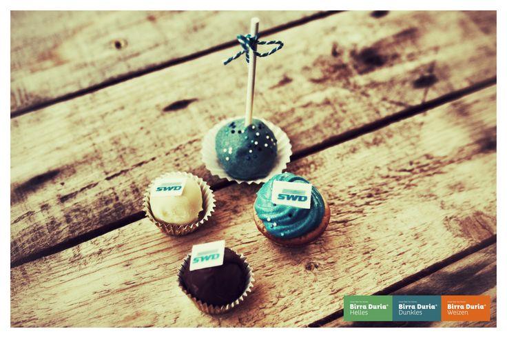 Das Brauhaus Event & Catering. Cakepop Variationen mit Werbung....