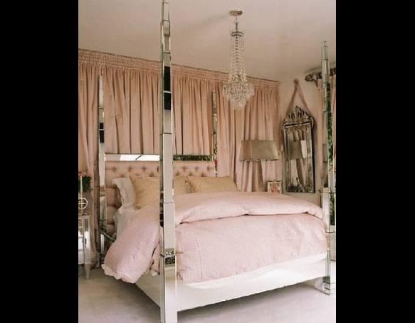 pink and silver and it just happens to be paris hilton 39 s bedroom
