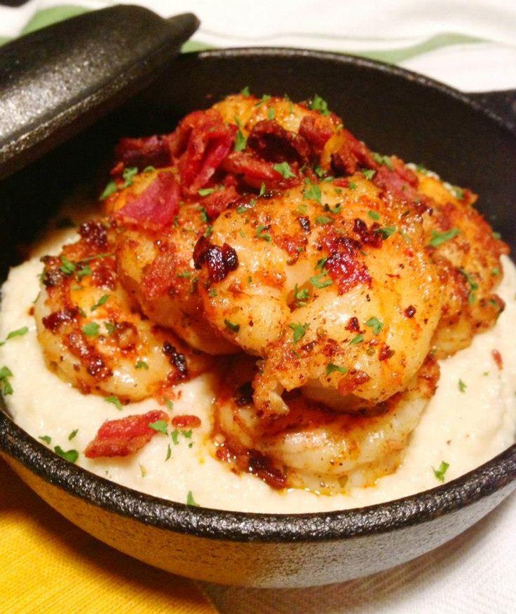 Paleo Cajun Shrimp and Grits  @Paleo Cupboard