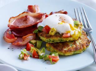 Corn fritters recipe by Louise Fulton Keats - Sweetcorn fritters with avocado salsa - Yahoo!7 Food