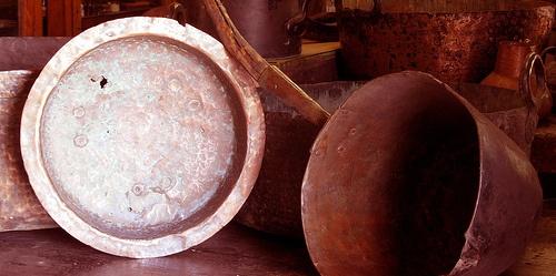 Fondo de cobre de utensilios de cocina Belgique