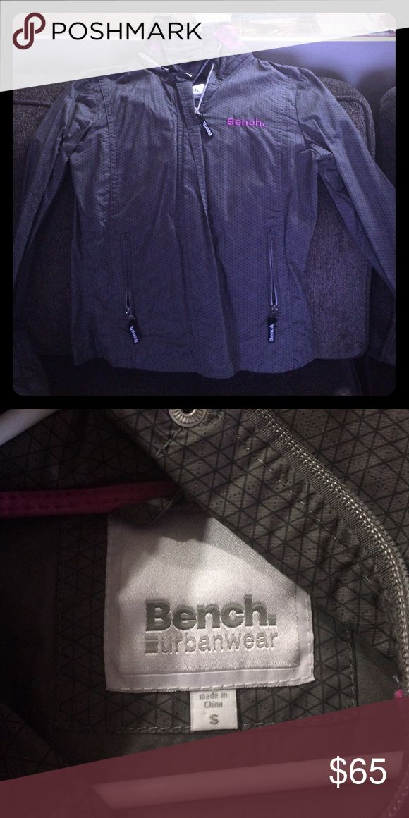 Bench jacket! Purple bench letters around the back of the neck, hood folds out. Never worn!!! Bench Jackets & Coats Utility Jackets