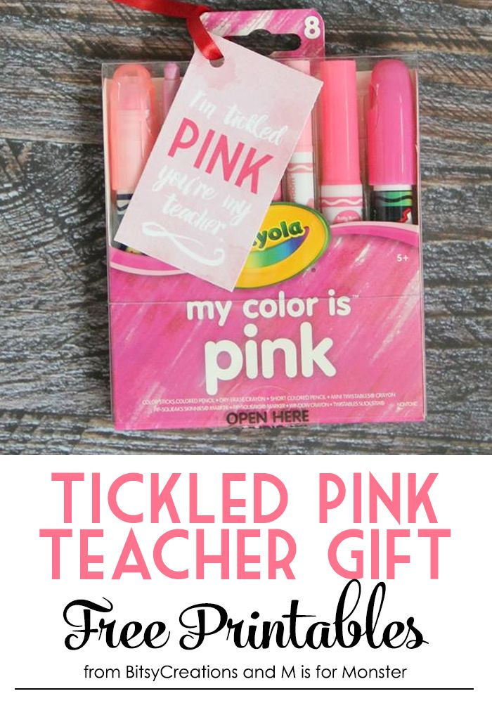 Tickled Pink Teacher Gift Free Printables from BitsyCreations and M is for Monster