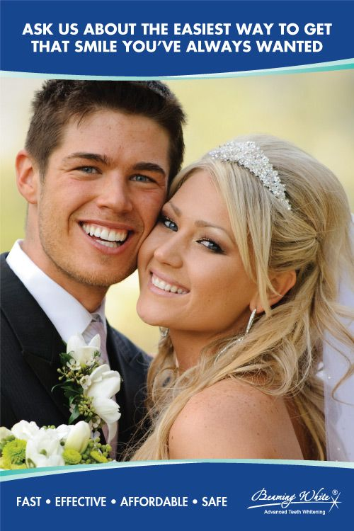 Teeth Whitening Poster With Attractive Wedding Nice White Smiles