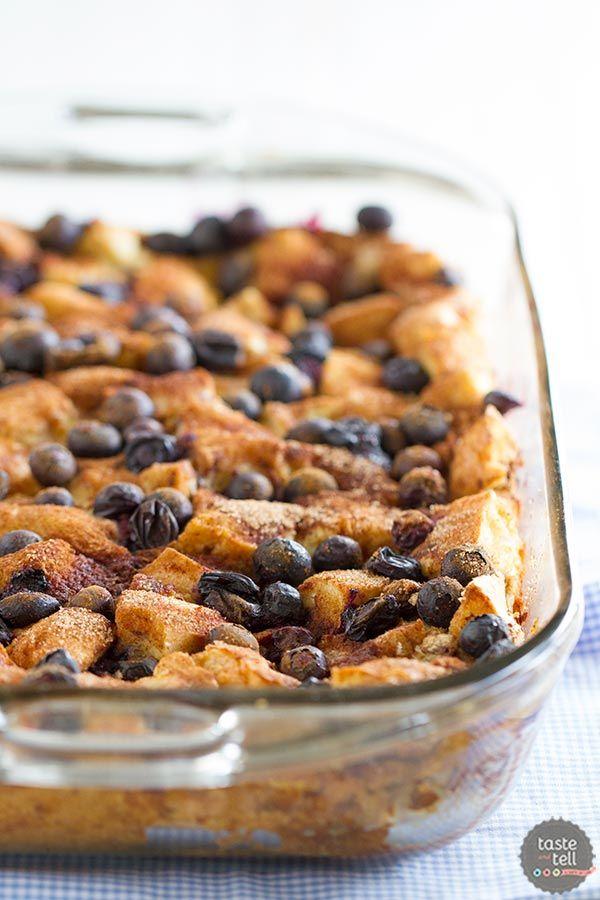 Blueberry Banana French Toast Bake - a fuss free breakfast the family will love!