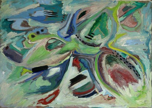 Titolo: untitled, Tecnica: olio, Dimensione: 50×7, Artist: Silvio Mazzotta