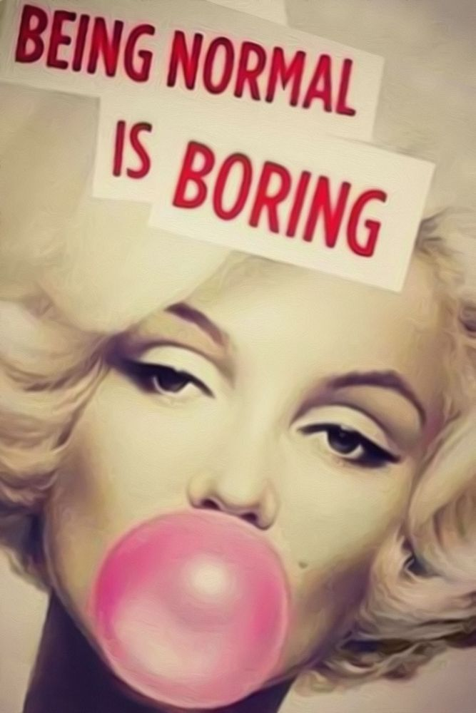 Marilyn Monroe Quotes Being Normal Is Boring Print Silk POSTER 13x19