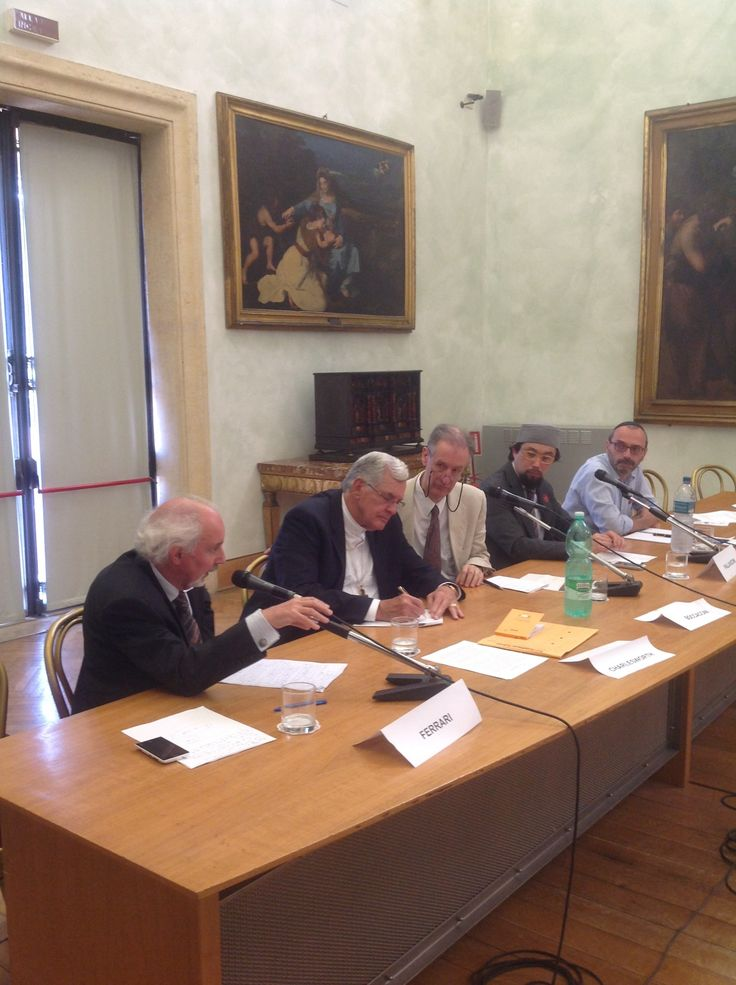 """In Rome, Italy, for the International Congress on """"Paul: A Jew within Second Temple Judaism,"""" Professor James Charlesworth (representing Christians and Princeton Seminary) was invited by Rome's mayor, Ignazio Marino to discuss the topic """"Paul and the Future of Jews, Christians, and Muslims."""""""