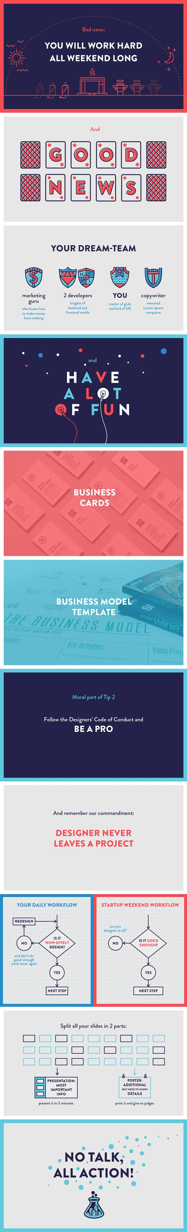 best ideas about simple powerpoint templates the designers guide to startup weekend powerpoint presentation design by iryna nezhynska via behance i love the simple colors and flat shapes