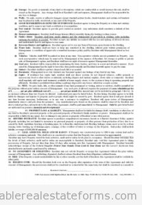 Free Standard Rental Agreement Printable Real Estate Document