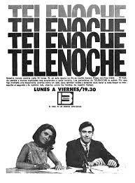 Publicidad de TELENOCHE, Canal 13, década del 70. Conductores: Mónica Mihanovich y Andrés Percivalle.