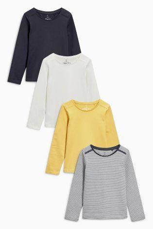 Купить Четыре футболки с длинным рукавом (желтая 1693d49acd647