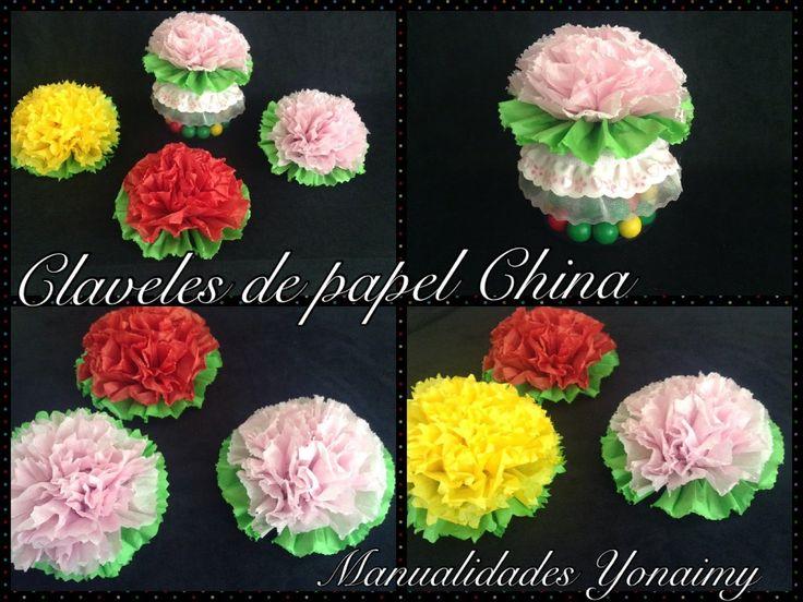 10 best ideas about flores con papel china on pinterest - Manualidades con papel de colores ...