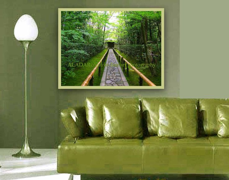 feng shui decorating modern art wall decor feng shui green spring landscape trees bamboo. beautiful ideas. Home Design Ideas