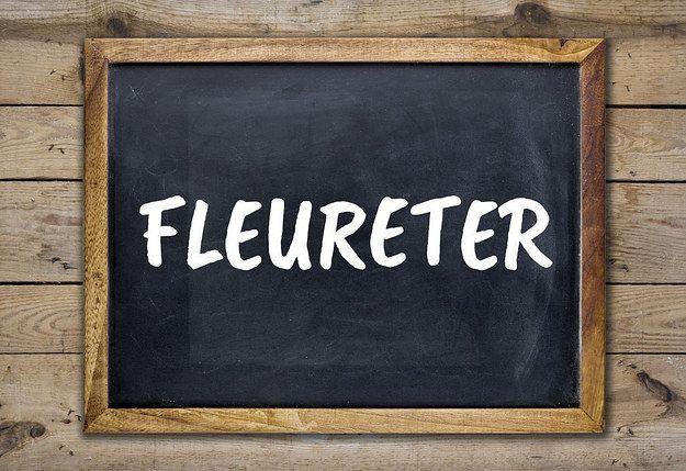 Flirter ou fleureter