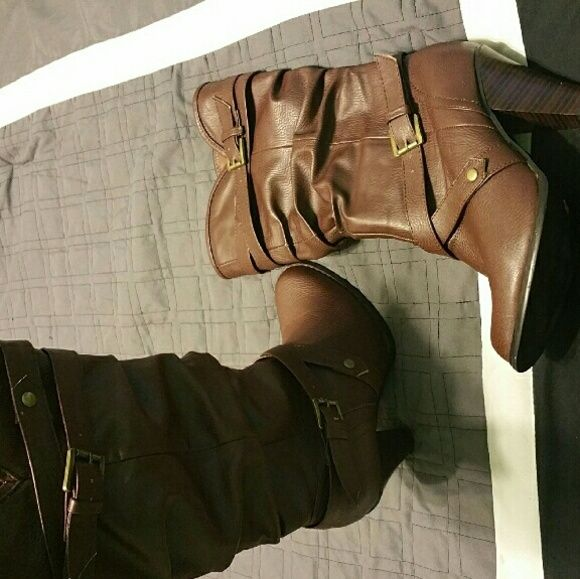 Women's brown leather boots Worn only a few times, still in excellent condition! Super comfortable with a 3in heel. Shoes Heeled Boots