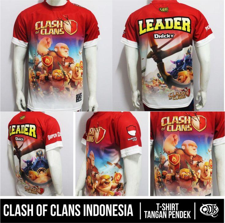 Clash Of Clans Jersey Indonesia Bahan; Dry-fit polyester printing: sublimasi (Gratis penambahan nama id,nama&logo clan,jabatan) pemesanan hub: BBM 543d3dbb Qdr Online shop WA 081222970120 CLash Of Clans Indonesia