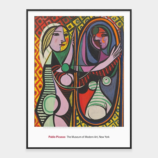 Pablo picasso girl before a mirror · framed printsframed artworkframed art