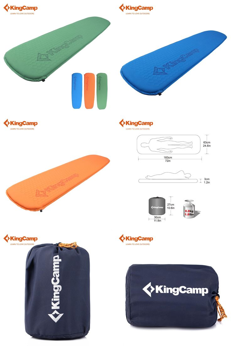 [Visit to Buy] KingCamp Deluxe Eco-friendly Ultralight Sleeping Pad Compatible Self-Inflating Camping Mats for Backpacking Hiking Trekking #Advertisement