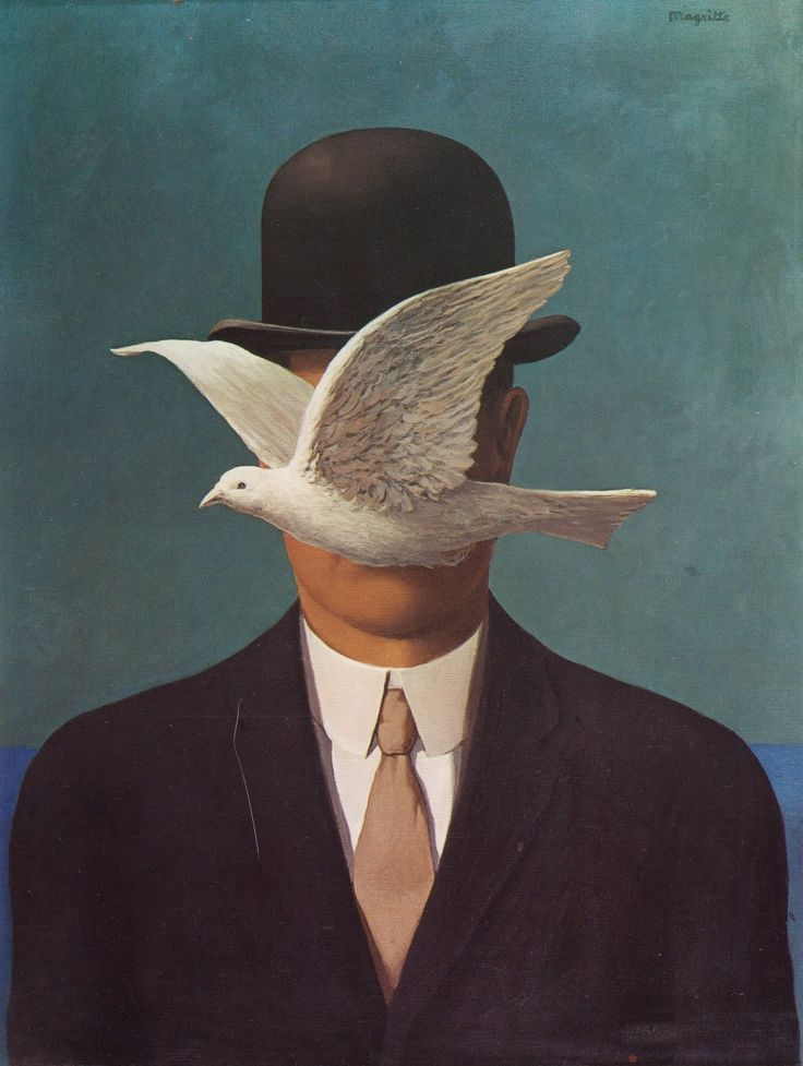 The Man In The Bowler Hat by René Magritte